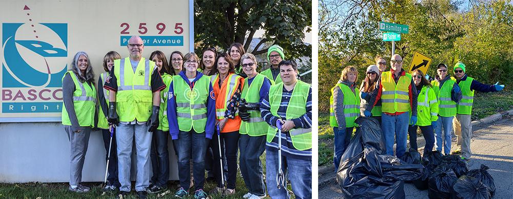 BASCO USA Volunteers Street Clean Up