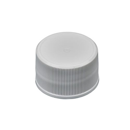 100 Caps AB-358-6-05W 28//410 Plastic White Fine-Ribbed Replacement Caps with Polyethylene Foam Liner